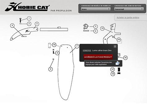 pieces detachees hobie cat